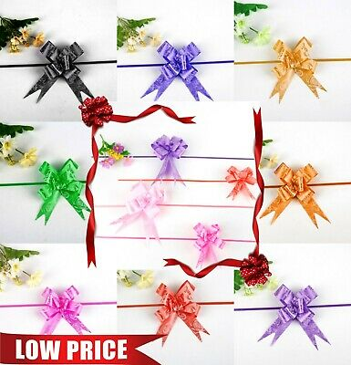 Ribbon Bows Assorted Colour Large Easy Pull Flower Ribbon Party Decorations Part