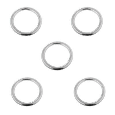 10 x Smooth Welded Polished Stainless Steel O Rings Marine Sail Boat Fitting