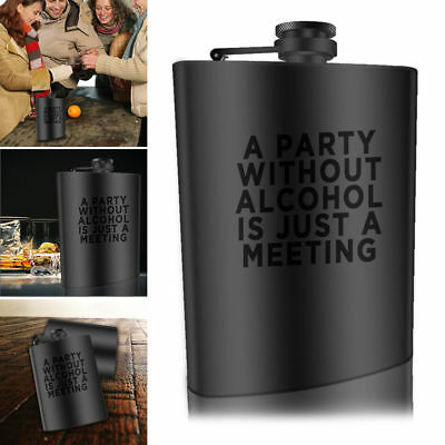 7oz Stainless Steel Hip Flask Portable Alcohol Bottle Whiskey Drink Holder Bar