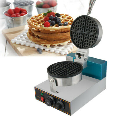 1250W Safty Electric Egg Cake Oven Waffle Bake Machine Pancake Maker Commercial