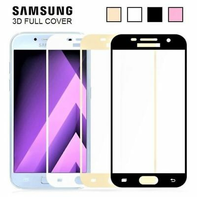 3D FULL COVER Tempered Glass Screen Protector for Samsung Galaxy A5 A3 A7 2017
