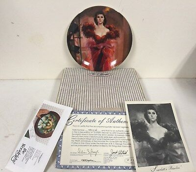 1989 Gone with the Wind SCARLETT'S RESOLVE Plate 8th Issue LE w Box COA