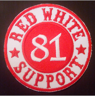 Hells Angels Support Aufnäher/Patch RED WHITE 81 SUPPORT Original 81 Support