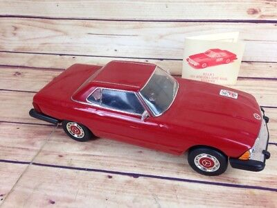 1974 Mercedes Benz 450SL Model Jim Beam Decanter RED WITH BLACK INTERIOR JF01
