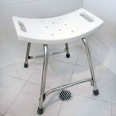 Heavy Duty Shower & Bath Seat Non-slip Stainless Steel Frame Safety Stool Chair
