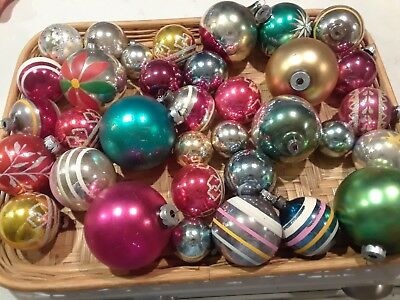 Lot of 30+ Vintage Glass Christmas Shiny Brite and Others