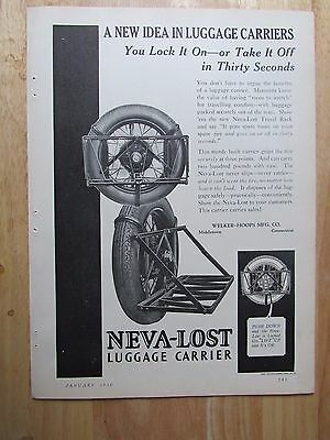 1930 NEVA - LOST Luggage Carrier Automotive Print Ad