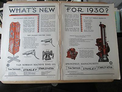 1930 Stanley Hand & Power Tool Double page ad 20 x 13