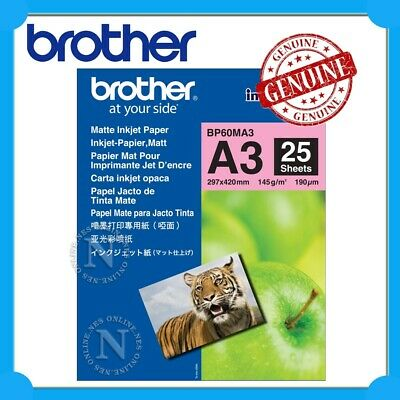 Brother BP60MA3 A3 Matte Inkjet Paper (25 Sheets) 145GSM>J6520DW/J6920DW/J6720DW
