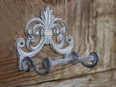 Fleur De Lis Cast Iron Toilet Paper Roll holder - Cast Iron Wall Mounted Toilet