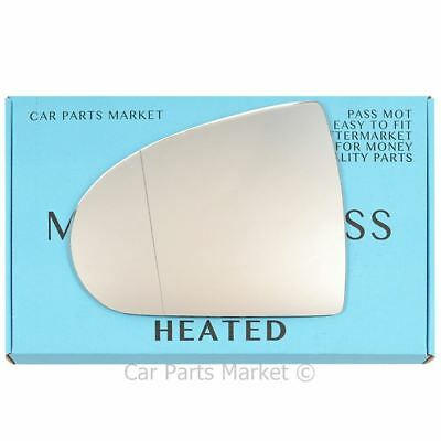 Right Driver side wing mirror glass for Mitsubishi Colt 2004-2012 Heated