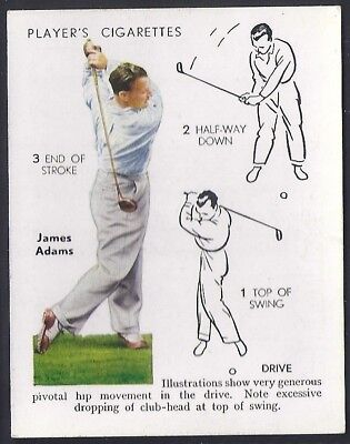 Players Overseas Issue-Golf (L25)-#01- Drive - James Adams