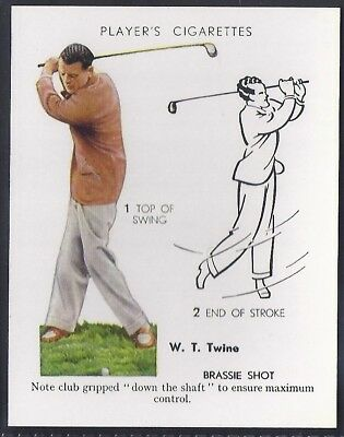 Players Overseas Issue-Golf (L25)-#23- Brassie Shot - Twine
