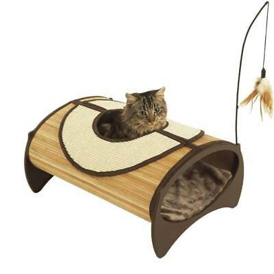 Rosewood Bamboo Cat - Kitten Pod -Bed - Scratch & Play - NQP*