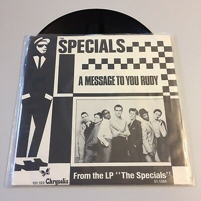 """The Specials A Message to You Rudi 7""""inch Vinyl Punk Ska Madness"""