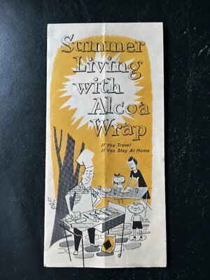 VTG Summer Living With Alcoa Wrap Vacation Travel Outdoor recipes Paper Pamphlet