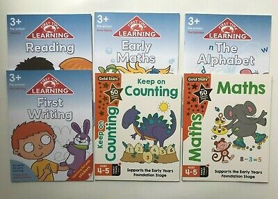 Gold Stars Maths English Counting Reading & Writing Practice Ages 4-5 Years New