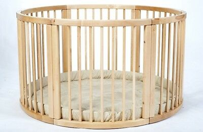 LARGE Wooden Playpen ATLAS UNO with Playmat in Original box
