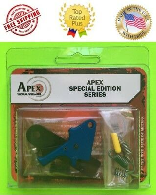 *Apex S&W M&P Duty/Carry Flat Faced Forward Set Sear Enhancement Trigger Kit BLU