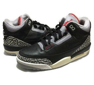 low priced 8fd31 71a5b 2001 Nike Air Jordan Iii 3 Black Cement Elephant Print Retro New Size 8 Rare  Nmd