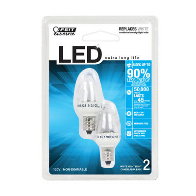 LED Night Light Replacement Bulb - 2-Pack - Feit Electric
