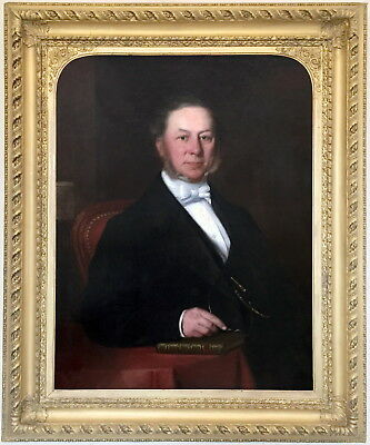 Portrait of a Gentleman Antique Oil Painting 19th Century English School