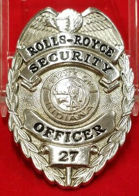 Obsolete Rolls-Royce Plant Security Officer Badge Indianapolis, Indiana #27