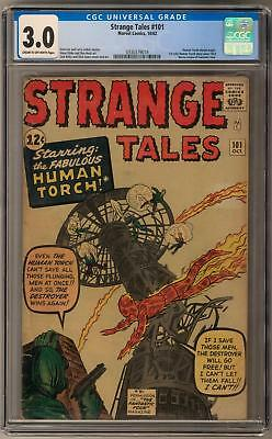 Strange Tales #101 CGC 3.0 (C-OW) 1st Solo Human Torch since Golden Age