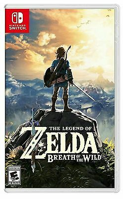 The Legend Of Zelda Breath Of The Wild * Nintendo Switch * Brand New Sealed!