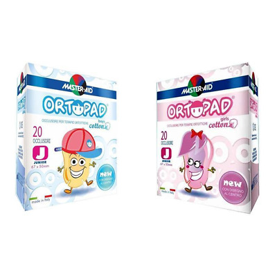 Ortopad Boys E Girls Occlusore Per Terapie Ortottiche Medium E Junior 20 pz