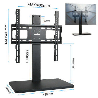 """Universal TV Table Top Stand MOUNT w/ Large Metal Base Fits 32-55"""" Screen 132Lbs"""