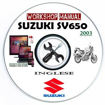 Manuale Officina Suzuki SV 650 S 2003 Workshop Manual Service Repair Riparazione