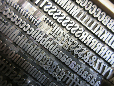 Letterpress Lead Type 36 Pt. Franklin Gothic Extra Condensed ATF # 165   H14