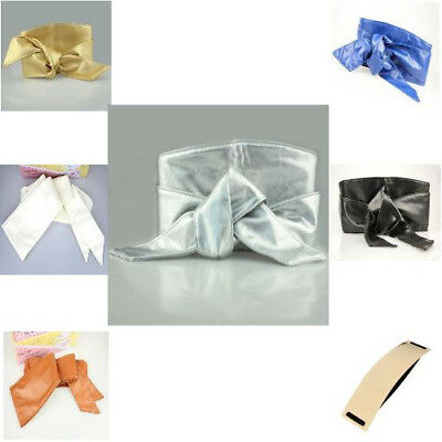 Waistband Self Tie Bow-knot Band Wrap Around Sash Wide Belt For Women