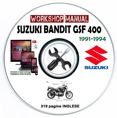 Manuale Officina Suzuki Bandit GSF 400 1991-1994 Workshop Manual Service Repair