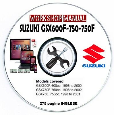 Manuale Officina Suzuki GSX 600 F GSX 750 F 1998-2002 WORKSHOP MANUAL SERVICE