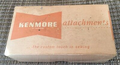 Vintage Sears Kenmore Sewing Machine Accessories Attachments In Box & Manual