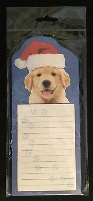 NEW!!  Refrigerator Magnetic Notepad 60 Sheets -Dog- magnet Grocery/To Do List