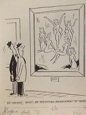 Carl Thomas - Vintage Adult Cartoon   (Rogue Magazine July 1958)