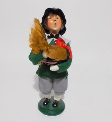 "Byers Choice Pilgrim Boy With Turkey Caroler Thanksgiving 9"" Small Flaws"