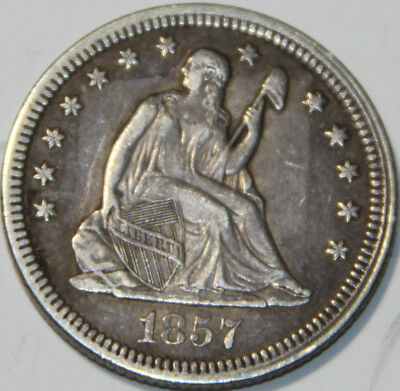 1857-P Seated Liberty Quarter [SN03]