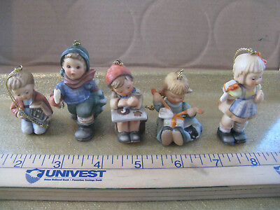 Lot Of 5 Vtg 1997 Berta Hummel Ornaments Nativity Cookies Tree Wrapper Surprise