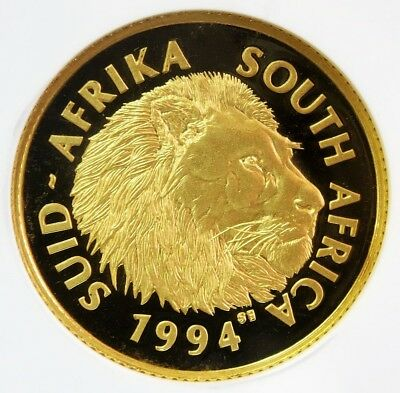 1994 Gold South Africa Lion 1/4 Oz Natura Coin Ngc Proof 68 Ultra Cameo