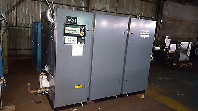 ATLAS COPCO GA90W, GA 90 W  125 HP OIL-LUBRICATED SCREW air COMPRESSOR w dryer