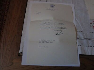 Richard J. Hughes autographed typed letter 1965-Governor of New Jersey