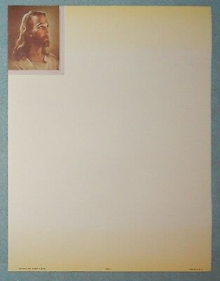 50 Sheets Stationary with Sallman Jesus, Head of Christ #366LG - New