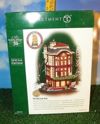Dept 56 Red Lion Pub Dickens Village 20th Anniversary Special 2004 Department