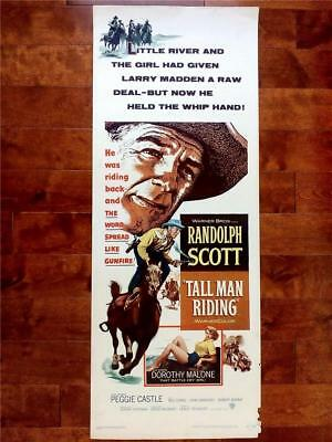 Randolph Scott Is The Tall Man Riding Orignal Vintage Western Us Insert Poster