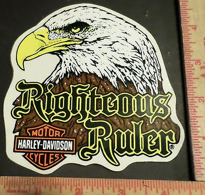 Vintage Harley Eagle sticker collectible old motorcycle decal HD memorabilia Md