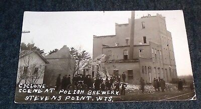 RARE RPPC - Cyclone at Polish Brewery, Stevens Point, Wisconsin Vintage Postcard